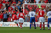 Photo: Leigh Quinnell.<br /> Nottingham Forest v Brighton & Hove Albion. Coca Cola League 1. 19/08/2006. Nottingham Forests Grant Holt puts away a penalty.