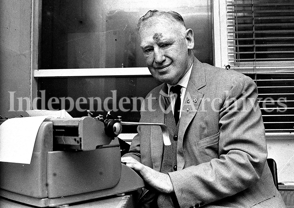 Detective Sergeant Jim Brannigan, otherwise know as 'Lugs' Brannigan. 28/12/1972. (Part of the Independent Ireland Newspapers/NLI Collection)