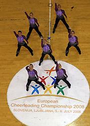 Dream Team, Finland at European Cheerleading Championship 2008, on July 5, 2008, in Arena Tivoli, Ljubljana, Slovenia. (Photo by Vid Ponikvar / Sportal Images).