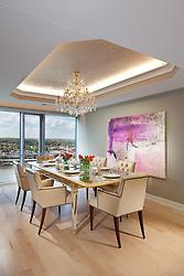 1111 19th Street North Arlington Virginia designer Jeff Aksiezer condominium Dining Room