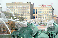 Buckingham Fountain in Grant Park, Chicago, Illinois