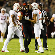 16September 2017:  The Aztecs lead Stanford 10-7 at half time at San Diego Stadium. <br /> www.sdsuaztecphotos.com