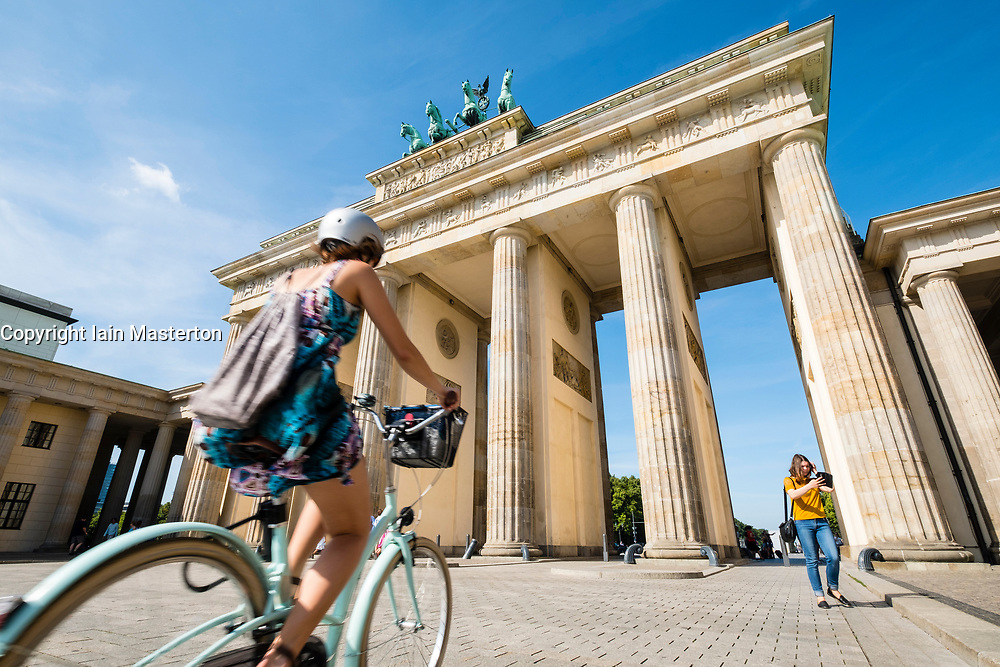 Brandenburg Gate in Mitte district of Berlin Germany