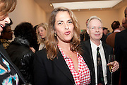 TRACEY EMIN; ANTHONY FAWCETT, Richard Wilson Vertu Global Art Commission. Saatchi Gallery. Duke of York's HQ. London. 13 April 2011. -DO NOT ARCHIVE-© Copyright Photograph by Dafydd Jones. 248 Clapham Rd. London SW9 0PZ. Tel 0207 820 0771. www.dafjones.com.