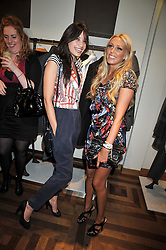 Left to right, DAISY LOWE and PETRA ECCLESTONE at a party hosted by Petra Ecclestone at Matches, 87 Marylebone High Street, London on 7th September 2009.
