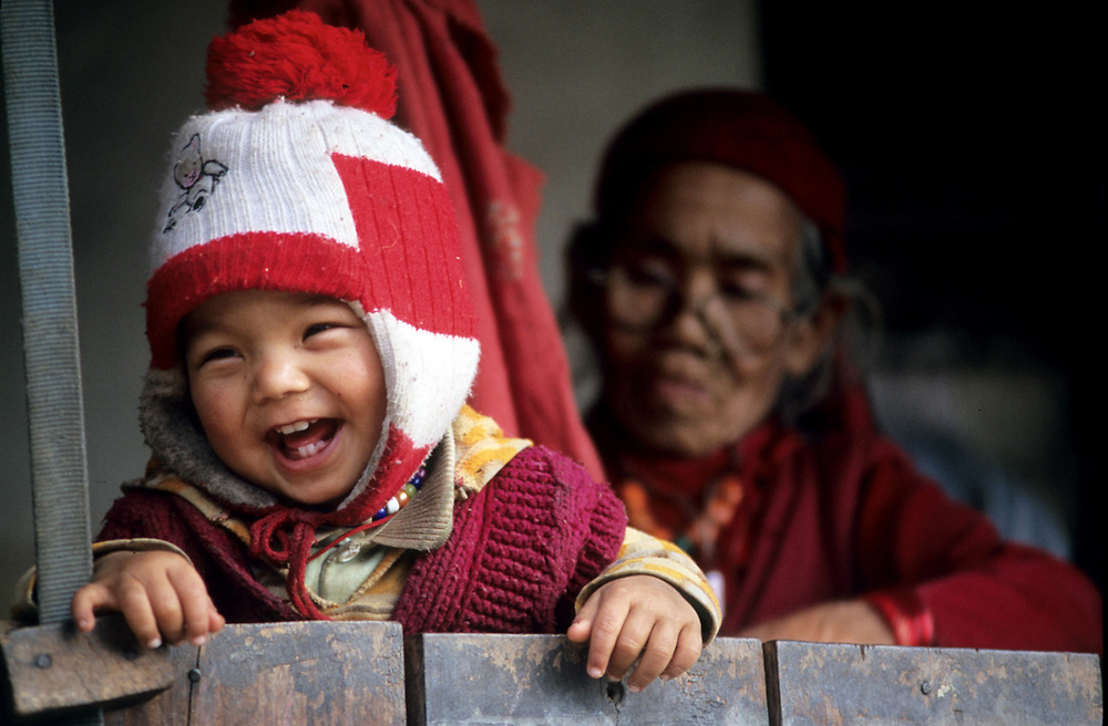Gurjung Village, Himalaya, Nepal.<br />