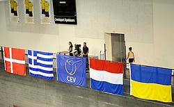 09-09-2012 VOLLEYBAL: EK KWALIFICATIE VROUWEN DENEMARKEN - NEDERLAND: APELDOORN <br /> NOS live uitzending media camera<br /> ©2012-FotoHoogendoorn.nl