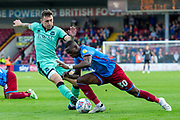 Abo Eisa of Scunthorpe United during the EFL Sky Bet League 2 match between Scunthorpe United and Carlisle United at Sands Venue Stadium, Scunthorpe, England on 31 August 2019.