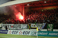 Supporters Red Star - 23.01.2015 - Red Star / Marseille Consolat - Coupe de France<br /> Photo : Sebastien Muylaert / Icon Sport