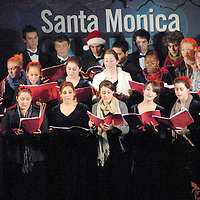 The Santa Monica High School Choir performs at Santa Monica Place during its musical tree-lighting celebration, called Santa Monica Shines on Saturday, November 20, 2010.