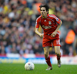 LIVERPOOL, ENGLAND - Saturday, January 26, 2008: Liverpool's hat-trick hero Yossi Benayoun in action against Havant and Waterlooville during the 5-2 victory in the FA Cup 4th Round match at Anfield. (Photo by David Rawcliffe/Propaganda)