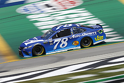 July 13, 2018 - Sparta, Kentucky, United States of America - Martin Truex, Jr (78) brings his race car down the front stretch during practice for the Quaker State 400 at Kentucky Speedway in Sparta, Kentucky. (Credit Image: © Chris Owens Asp Inc/ASP via ZUMA Wire)
