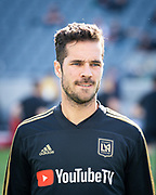 Los Angeles FC midfielder Benny Feilhaber (33) warms up before the game against New York City in a MLS soccer match in Los Angeles, Sunday, May 13, 2018. The game ended in a 2-2 tie. (Ed Ruvalcaba/Image of Sport)