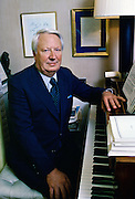 Edward Heath, former Conservative leader, at home, England, United Kingdom