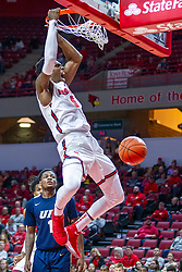 NORMAL, IL - November 29: Keith Fisher III drains the flush during a college basketball game between the ISU Redbirds and the Prairie Stars of University of Illinois Springfield (UIS) on November 29 2019 at Redbird Arena in Normal, IL. (Photo by Alan Look)