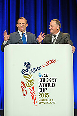 Auckland-Prime Ministers Key and Abbott at Gala cricket dinner