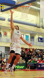 Essex Leopards' Jamelle Davis attempts a shot - Photo mandatory by-line: Dougie Allward/JMP - Tel: Mobile: 07966 386802 23/03/2013 - SPORT - Basketball - WISE Basketball Arena - SGS College - Bristol -  Bristol Academy Flyers V Essex Leopards