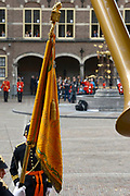 Prinsjesdag 2013 Nieuw vaandel van Koning Willem Alexander<br />