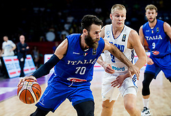 Luigi Datome of Italy vs Sasu Salin of Finland during basketball match between National Teams of Finland and Italy at Day 10 in Round of 16 of the FIBA EuroBasket 2017 at Sinan Erdem Dome in Istanbul, Turkey on September 9, 2017. Photo by Vid Ponikvar / Sportida