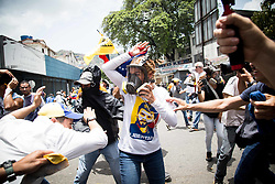 April 18, 2017 - Caracas, Venezuela - LILIAN TINTORI, wife of jailed Venezuelan opposition leader Leopoldo Lopez, during a protest against Venezuelan President Nicolas Maduro, in Caracas on April 19, 2017 (Credit Image: © Panoramic via ZUMA Press)