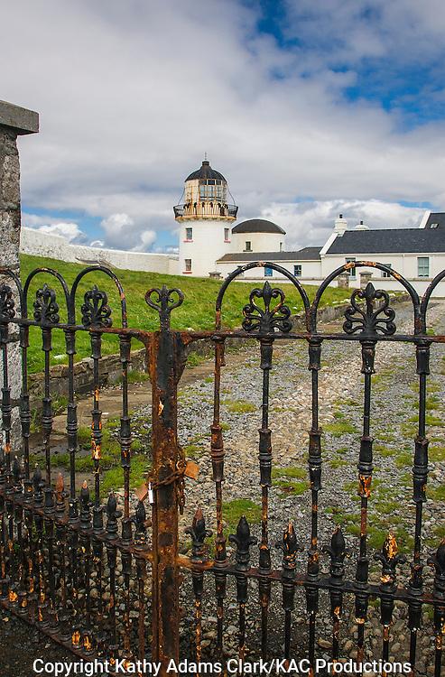 Gates to Clare Island lighthouse off coast of western Ireland.