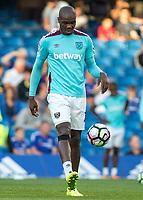 Football - 2016/2017 Premier League - Chelsea V West Ham United. <br /> <br /> Andre Ayew of West Ham warms up at Stamford Bridge.<br /> <br /> COLORSPORT/DANIEL BEARHAM