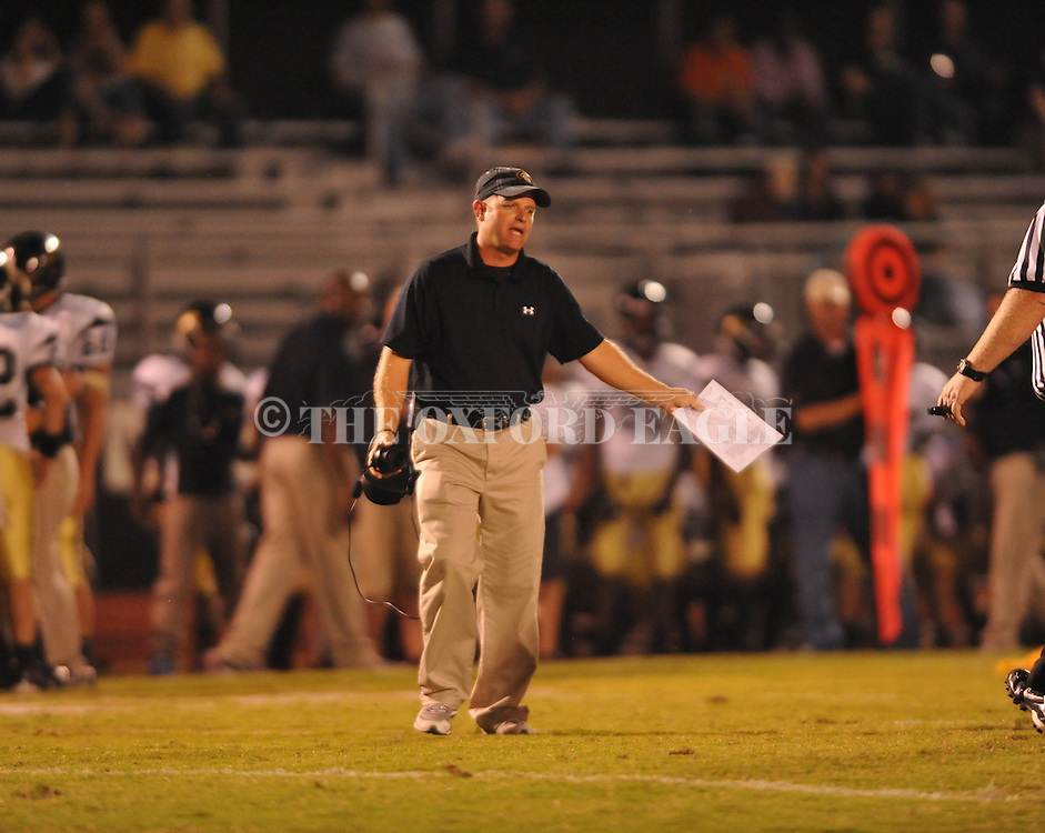 Oxford High vs. New Hope coach Michael Bradley in high school football in Oxford, Miss. on Friday, September 28, 2012. Oxford won 29-17 to improve to 6-0.