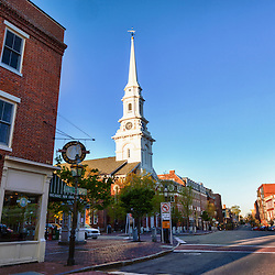 The North Church and Market Square in Portsmouth, New Hampshire.