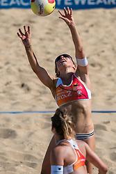 25-08-2019 NED: DELA NK Beach Volleyball, Scheveningen<br /> Last day NK Beachvolleyball / Marloes Wesselink #2