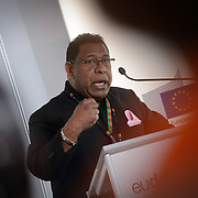 04 June 2015 - Belgium - Brussels - European Development Days - EDD - Climate - After Pam - Supporting the agri-food sectors in Vanuatu - Roy Mickey Joy , Ambassador of Vanuatu to the European Union and President of the ACP Committee of Ambassadors © European Union