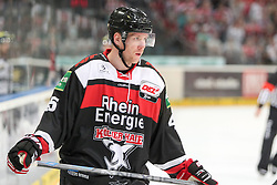 19.10.2014, LANXESS Arena, Köln, GER, DEL, Kölner Haie vs ERC Ingolstadt, 12. Runde, im Bild Marcel Mueller (Koelner Haie), Koelner Haie - ERC Ingolstadt am 19.10.2014 in der Lanxess-Arena in Koeln (Nordrhein-Westfalen). // during Germans DEL Icehockey League 12 th round match between Cologne Haie and ERC Ingolstadt at the LANXESS Arena in Köln, Germany on 2014/10/19. EXPA Pictures © 2014, PhotoCredit: EXPA/ Eibner-Pressefoto/ Kohring_Fuss<br /> <br /> *****ATTENTION - OUT of GER*****