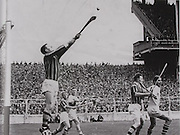 Kilkenny's Olly Walsh in full flight in the 1963 All-Ireland Final in 1963 against Waterford.