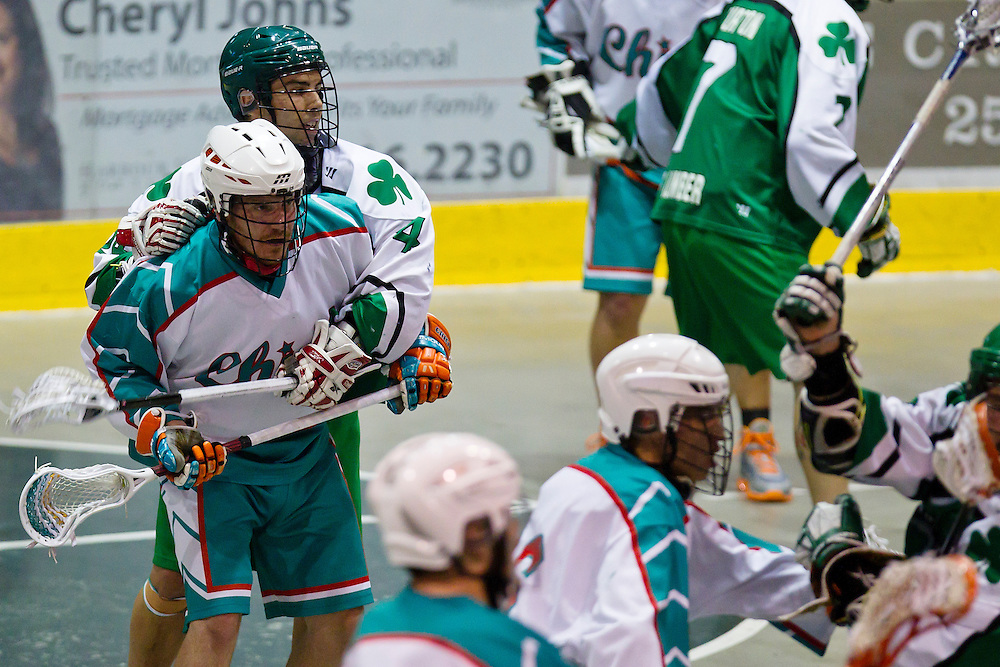 Six Nations Chiefs win the Mann Cup beating the Victoria Shamrocks Lacrosse Club 8-5 in game 6 of the Mann Cup September 14th, 2013 at Bear Mountain Arena in Victoria B.C.