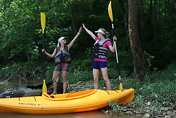 Paddling on Floyds Fork of the Salt River near Eastwood, Sunday, June 03, 2018 at Beckley Station Put in and Fisherville Take out in LOUISVILLE.