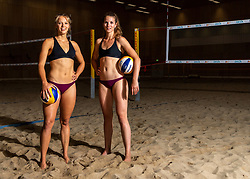 06-07-2018 NED: EC Beach teams Netherlands, The Hague<br /> (L-R) Laura Bloem, Jolien Sinnema