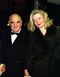 LORD & LADY WEIDENFELD at a party in London on 24th November 1999.MZH 91