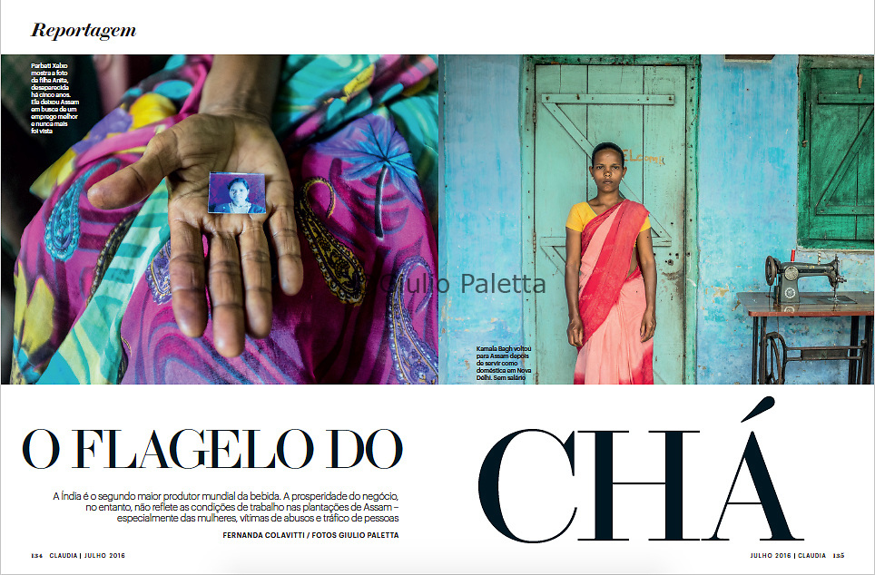 """O Flagelo do Cha"", CLAUDIA magazine, Brazil, July 2016"