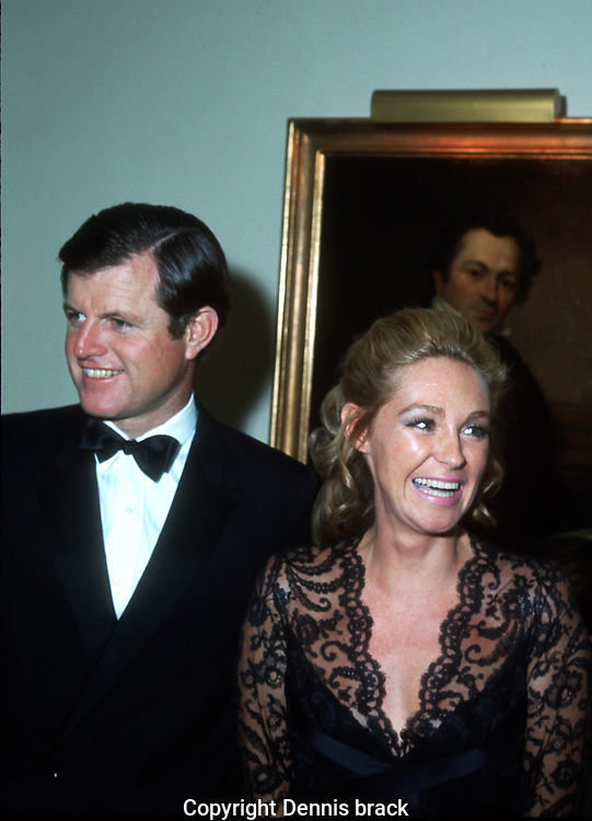 A 29 MG IMAGE OF:..Joan and Ted Kennedy at a piano concert that Joan Kennedy performed in in Philadelphia in October 1970..Photo by Dennis Brack  B 8