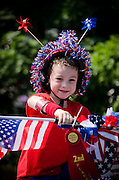 One of many youngsters that entered the bike decorating competition in Pitman's Fourth of July parade.