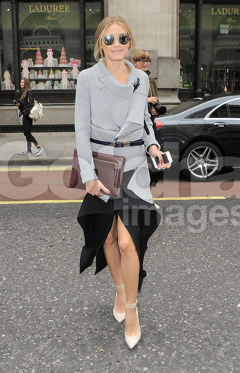 Olivia Palermo attends Emilia Wickstead fashion show during London Fashion Spring Summer 2015 in London, UK. 13/09/2014 <br />BYLINE MUST READ : GOTCHAIMAGES.COM<br /><br />Copyright by &copy; Gotcha Images Ltd. All rights reserved.<br />Usage of this image is conditional upon the acceptance <br />of Gotcha Images Ltd, terms and conditions available at<br />www.gotchaimages.com
