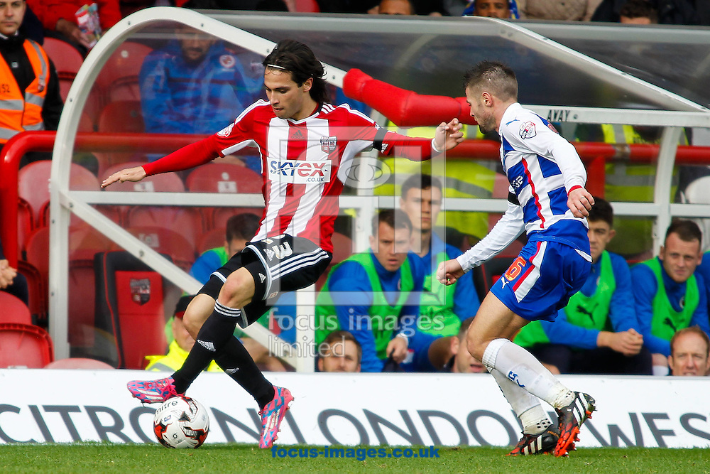 during the Sky Bet Championship match between Brentford and Reading at Griffin Park, London<br /> Picture by Mark D Fuller/Focus Images Ltd +44 7774 216216<br /> 04/10/2014