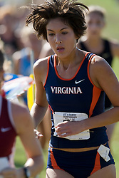 Virginia Cavaliers Stephanie Garcia (73)..The Atlantic Coast Conference Cross Country Championships were held at Panorama Farms near Charlottesville, VA on October 27, 2007.  The men raced an 8 kilometer course while the women raced a 6k course.