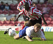 Nationwide Div 2 - Brentford v Hartlepool..Marco Gabbiadini go's over in the Bee's area.© Peter Spurrier/Intersport-Images, email images@intersport-images.com. Mob +447973819551