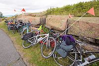 Stacked Bikes Cadillac Mountain Maine