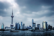 The skyline of Shanghai.