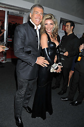 LISA TCHENGUIZ and STEVE VORSARI at the inaugural Gabrielle's Gala in London in aid of Gabrielle's Angel Foundation for Cancer Research held at Battersea Power Station, London on 7th June 2012.