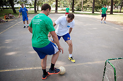 "Uros Zorman during Handball Summer Camp named ""Rokometni tabor Urosa Zormana 2013"" on June 29, 2013 in Savudrija, Croatia. (Photo by Vid Ponikvar / Sportida.com)"