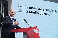 29 JAN 2016, BERLIN/GERMANY:<br /> Martin Schulz, SPD, Kanzlerkandidat, haelt seine Vorstellungsrede, Vorstellung von Schulz als Kanzlerkandidat der SPD zur Bundestagswahl, nach der Nominierung durch den SPD-Parteivorstand, Willy-Brandt-Haus<br /> IMAGE: 20170129-01-045