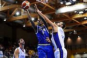 LIGNANO SABBIADORO, 15 LUGLIO 2015<br /> BASKET, EUROPEO MASCHILE UNDER 20<br /> ITALIA-ISRAELE<br /> NELLA FOTO: Nicola Akele<br /> FOTO FIBA EUROPE/CASTORIA