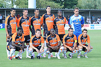 FOOTBALL - FRIENDLY GAMES 2010/2011 - FC LORIENT v STADE LAVALLOIS - 10/07/2010 - PHOTO PASCAL ALLEE / DPPI - FRANCO SOSA, MORGAN AMALFITANO, ALEXIS ROMAO, BENJAMIN GENTON, ARNOLD MVUEMBA AND LIONEL CAPPONE. IN FRONT LINE: BRUNO ECUELE MANGA, KEVIN GAMEIRO, SIGAMARY DIARRA, JEREMY MOREL AND YANN JOUFFRE (FCL)
